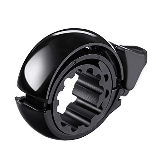 C725 Fahrradklingel Laut größer, Fahrrad Klingeln für 22.2-31.8mm Lenker, 2021 ver. Radfahren MTB Fahrradglocke für Alle Lenker, O Design Hupen Q Bell Fahrrad Mountainbike Alarm Horn Ring (Schwarz)