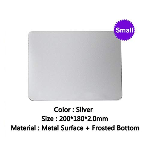 Metall-Mauspad, super Netter Laptop Aluminium Office Desktop Mouse Pad Kleine modischen,Silber