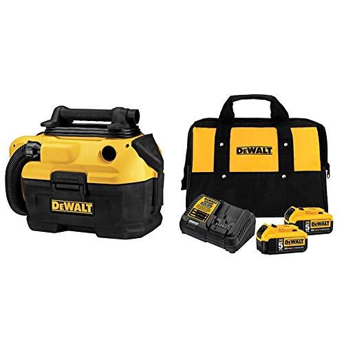 DEWALT 20V MAX Vacuum, Wet/Dry (DCV581H) & 20V MAX Battery Starter Kit with 2 Batteries, 5.0Ah (DCB205-2CK)