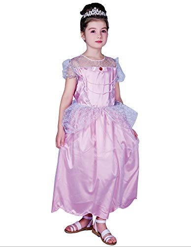 PARTY FIESTA Disfraz Princesa Rosa(5-6)