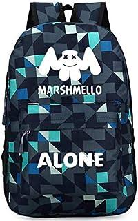 DJ Marshmello casual fashion students Bookbag backpack Travel work Rucksack for men and women
