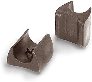 4 deslizadores de plástico para silla, color negro, con 1 pivote, para tubos redondos (W 14-15)