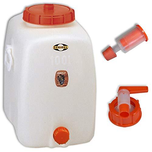 Speidel Getränkefass Oval 100 Liter mit Auslaufhahn NW10 incl. Gärspund