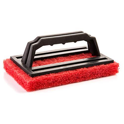 Reinigungsschwammbürste, ergonomisch, leicht, für Whirlpools, Schwimmbäder, rot, Free Size