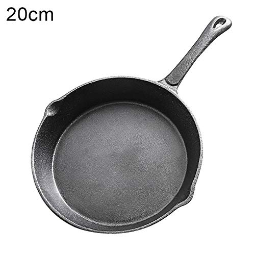 Cast Iron Fry Pan Pot Kettle Smoke-Free Pan Kitchen Cookware Supplies Induction Cooker Russia Shipping @Ls Jy31,20Cm