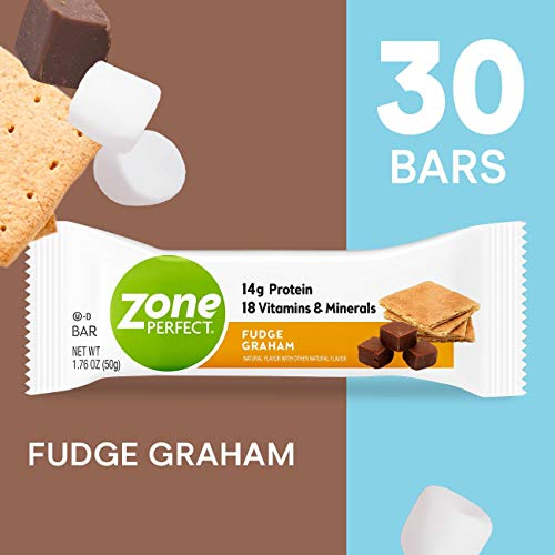ZonePerfect Protein Bars, Fudge Graham, High Protein, With Vitamins & Minerals 1.76 Ounce (30 Count)