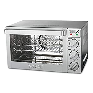 Waring Commercial WCO250X Quarter Size Pan Convection Oven, 120V, 5-15 Phase Plug