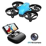 Potensic Drone avec caméra Mini Avion avec télécommande Drone avec WiFi caméra A20W...