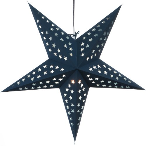 Hometown Evolution, Inc. Solid Blue Paper Star Lantern with 12 Foot Power Cord Included