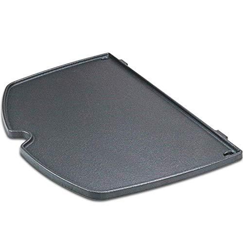 GFTIME 6559 Gusseisen Bratpfanne Grillplatte für Weber Q200, Q220, Q240, Q260, Q2000, Q2200, Q2400 Series Grill Modelle, 38,86 cm Grillrost Zubehör Griddle