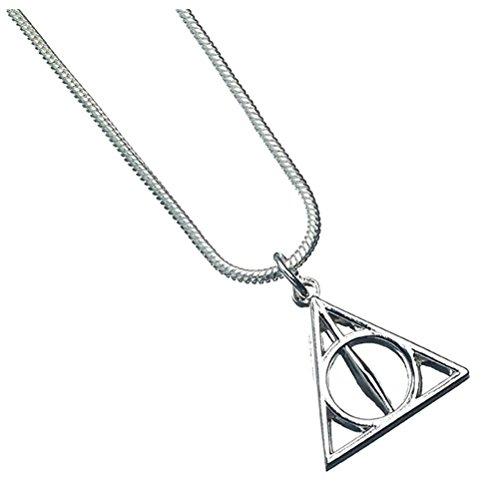 Harry Potter Offizielle Deathly Hallows Symbol Silber überzogene Halsketten-Anhänger