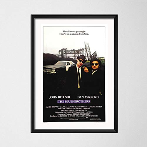 lubenwei The Blues Brothers 1980 Retro Vintage Movie Music Band Art Painting Vintage Canvas Poster Wall Home Decor 40x50cm No frame AW-432