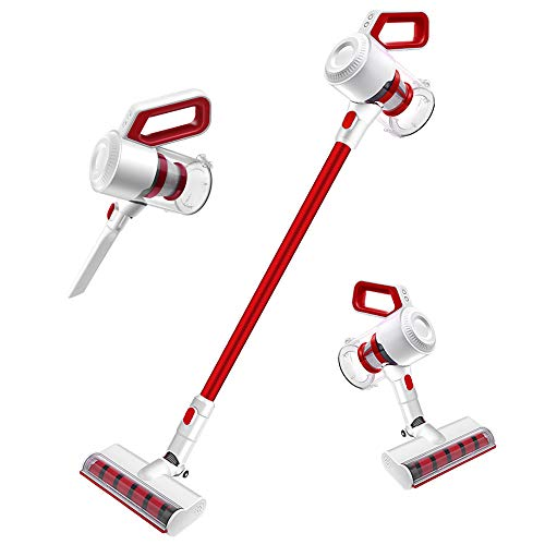 Cordless Vacuum Cleaners Rechargeable Portable 2 in 1 Handheld Vacuum Cleaner 2.9lb Lightweight Stick Vacuum with 1.2L Big Dustbin for Deep Cleaning Carpet Pet