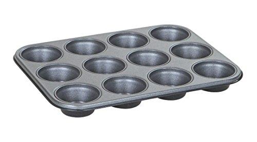 Wham Bandeja para Muffins de teflón, Acero, Gris, 35 x 26,5 x 3 cm