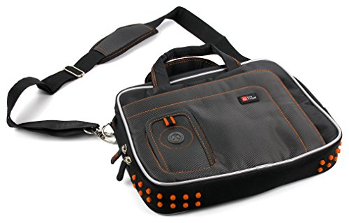 DURAGADGET Black & Orange Protective Carry Bag - Compatible with Samsung Series 3 Chromebox | Series 5 Chromebook 12.1-Inch & NS310 10.1-Inch Laptops