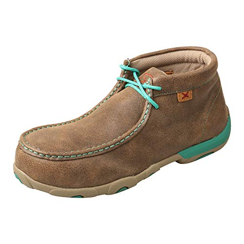 Twisted X Western Boot Cowboy Women Chukka Driving Moc, Bomber, Turquoise