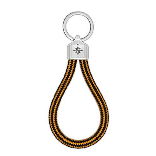 Raw Element Llavero con brújula, cuerda de escalada, inspirado en la naturaleza,...