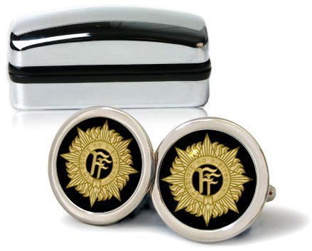 Family Crests Irlande Defence Forces Badge IDF Hommes Boutons avec Boîte Cadeau Chrome