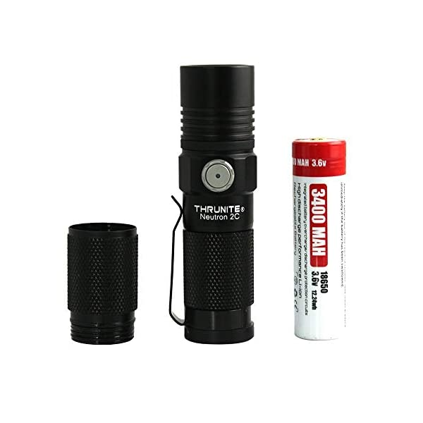 ThruNite Neutron 2C V3 Micro-USB Chargeable LED Flashlight CREE XP-L V6 LED Max 1100 lumens with Firefly, Turbo, Strobe and Self-define Modes Battery Included 6