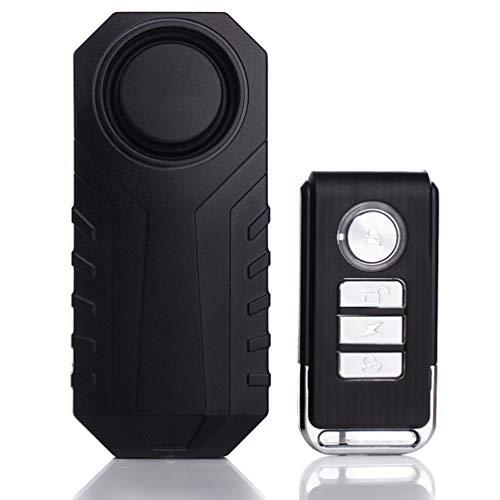 LAX Fahrradalarm, Diebstahlsicherung Alarm Mit Fernbedienung, Wireless Motorrad Fahrrad Diebstahl Alarmanlage