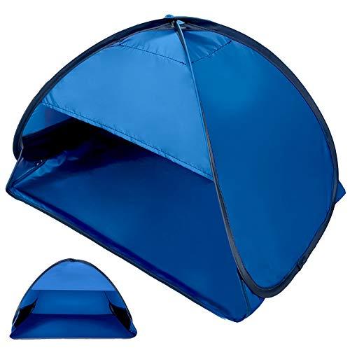Tenda Pop Up Istantanea Tenda da Spiaggia per Esterni Portatile Automatica, Riparo per Il Sole all'aperto per Borsa da Trasporto Adatta per Giardino/Campeggio/Pesca Familiare Blu