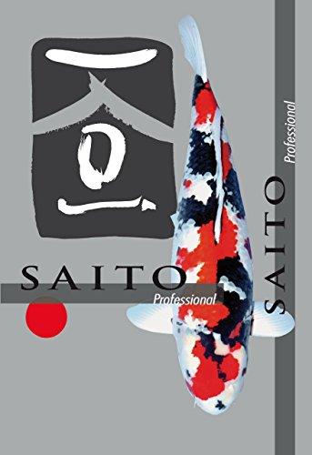 Saito Professional Koifutter, Premium Schwimmfutter der Spitzenklasse für optimales Wachstum, leuchtende Farben und eine tolle Körperform bei Koi aller Varietäten, 15kg Sack, 5mm Koipellets