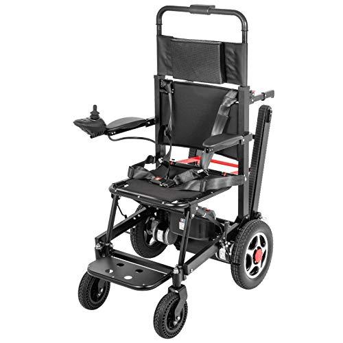 VEVOR Elektro Rollstuhl 177 kg, Treppensteiger 390 lbs, Elektrisch Faltbar Rollstuhl 2 in 1, Elektrorollstuhl Faltbar Leicht Gebraucht, Rollstuhl Antrieb Elektrisch, 2 Motor, Einfache Steuerung