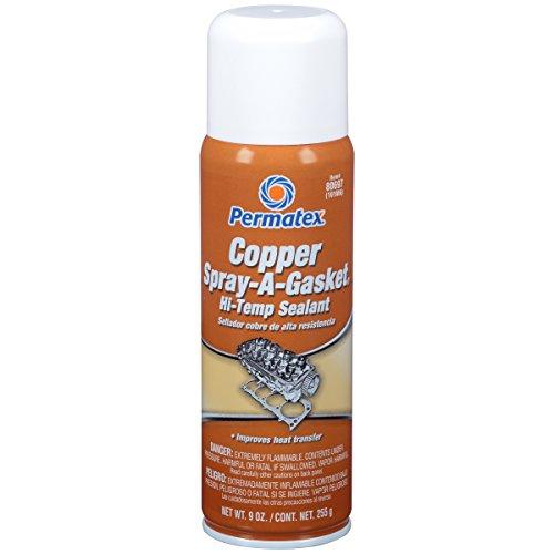 Permatex 80697-12PK Copper Spray-A-Gasket Hi-Temp Adhesive Sealant, 9 oz. net Aerosol Can (Pack of 12)