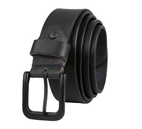 Zerimar Cinturón Piel de Hombre   3,5 cm Ancho   Cinturón Hombre Cuero   Cinturón Hombre Hebilla