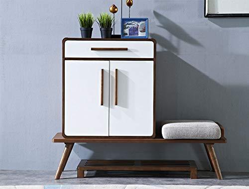 ZTBXQ Möbeldesign Nordic Massivholz Schuhschrank Einfach Modern Hall Hall Schranktür Schuhschrank Schließfach Multifunktion Türwechsel Schuhbank