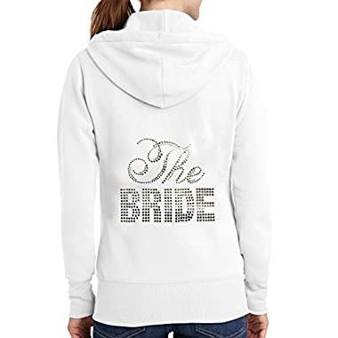 The Bride Rhinestone Hoodie - White (M (8-10))