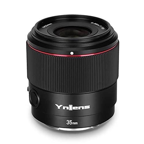 skrskr YNLENS YN35mm F2S DF 35mm E-Mount Lente de cámara de fotograma Completo F2.0 Gran Apertura 8 Grupos 9 Cuchillas Motor de Enfoque Reemplazo de Enfoque automático para cámaras Sony