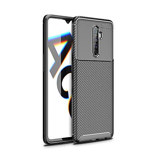 NOKOER Funda para Realme X2 Pro, Material de TPU es Ultra-Delgado Case, Anti Huella Digital Telefono Funda [Resistente al Desgaste] [Antideslizante] Cover - Negro