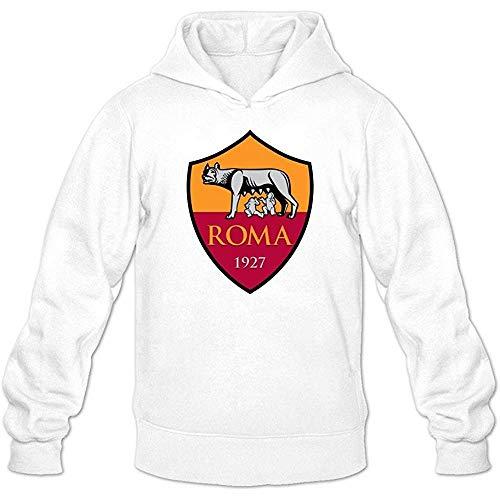 Eduardo Marin Men's As Roma Football Club Logo Lover Hoodie Sweatshirt White