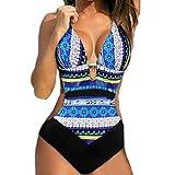 Luckycat Bikini Tanga Mujer Playa Sexy BañAdores con Relleno Push Up Traje De BañO Dos Piezas Tirantes Verano