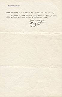 Margaret Mitchell - Typed Letter Signed 07/27/1937