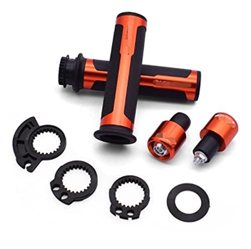 JINGHUI PENGSTOR 7/8'22mm Motory Cleatcle Handle Grips Handlebar Fit para Barracuda Fit para Kawasaki Z750 Z800 Fit para Yamaha MT07 MT09 MT10 R1 3 (Color : Orange)