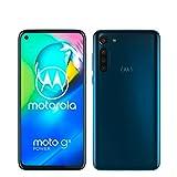 moto g8 power Dual-SIM Smartphone (6,4'-Max Vision-HD+-Display, 16-MP-Hauptkamera, 64 GB/4 GB, Android 10) Blau inkl. Schutzcover & KFZ-Adapter - exklusiv bei Amazon