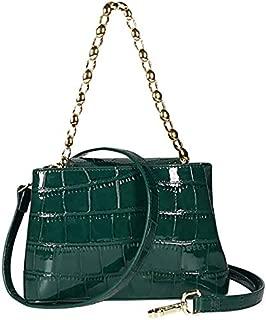 TOOGOO Stone Pattern Crossbody Bags for Women Pu Purses and Handbags Ladies Shoulder Messenger Bag Black