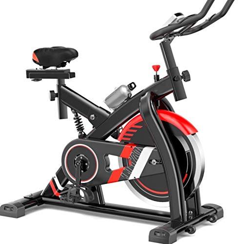 GZ Ciclismo Indoor Bike, Bicicletas Silencio Ejercicio, Bicicletas de Spinning, Cardio Fitness Equipment con Volante-Wrapped Completa del Ritmo cardíaco Reloj Digital de Prueba (Color : Black)