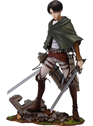 Gtrjin Anime Attack On Titan Levi Rivaille Levi Ackerman PVC Figura De Acción Figura Coleccionable Modelo Juguetes Muñeca Regalo 24Cm
