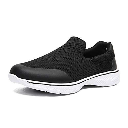 [Fainyearn] スニーカー レディース メンズ スリッポン モカシン ナースシューズ 安全靴 カップルシューズ デッキシューズ 超軽量 ウォキングシューズ 男女兼用 安全靴 作業靴 大きいサイズ ブラック 26.5cm