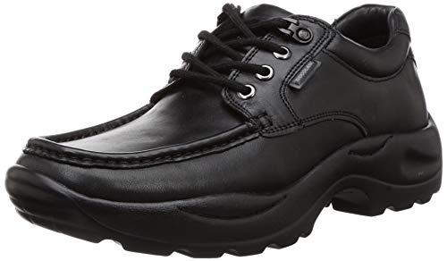 Woodland Men's 3197118 Black Leather Sneaker-8 UK (GC 3197118BLACK)