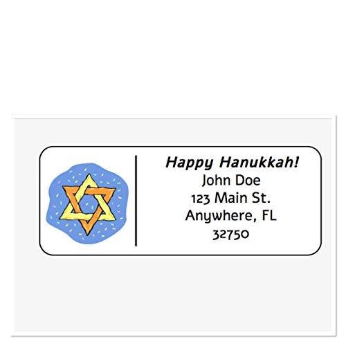 Personalized Address Labels, Happy Hanukkah Star Of David Set Of 30, Personalized Wedding Address Labels, Engagement Labels, Bridal Labels
