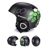 EnzoDate Ultimate Leichter Ski Helm Größe M/L, Snowboard Helm für Herren Damen mit abnehmbaren Ohrenschützer to Regulate Body tempareture