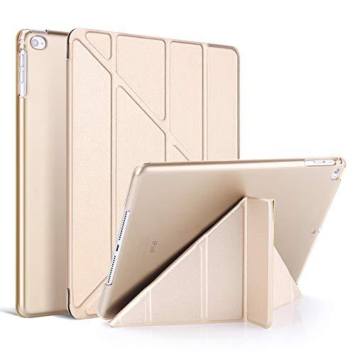 Capa para iPad Air3 de 10,5 polegadas, iPad Pro de 10,5 polegadas 2017 com suporte, capa traseira fina translúcida de TPU macio para iPad Air3 de 10,5 polegadas, iPad Pro de 10,5 polegadas, despertar/hibernar automático, ouro rosa (dourado)