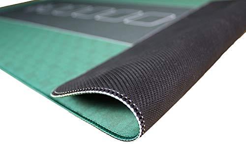 Bullets Playing Cards Profi Pokermatte grün in 160 x 80cm eigenen Pokertisch – Deluxe Pokertuch – Pokerteppich – Pokertischauflage – ideal als Geschenk - 3