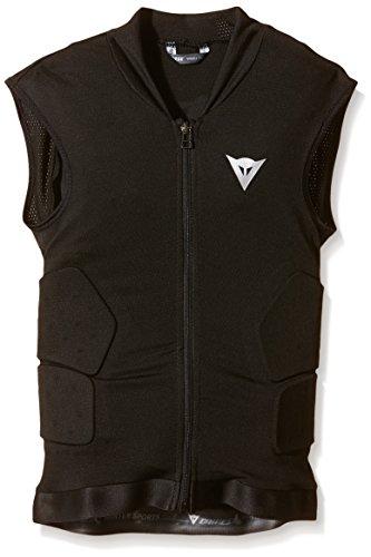 Dainese Kinder Protektorweste Ski Waistcoat Soft Flex, Black/Orange, M, 4879918_T84_JM