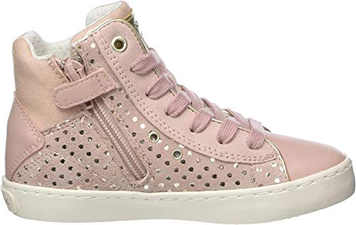 Geox Mädchen J Kilwi Girl H Hohe Sneaker, Pink