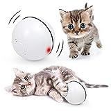 Bola de Gato, Juguetes para Gatos,Carga USB Juguete Gato Automática, Bola Eléctrica de 360 Grados Juguete Interactivo con luz LED para Ejercicio Animal Doméstico Gatos y Perros